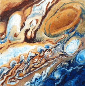 Venus Conjunct Jupiter oil on canvas