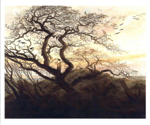 Tree of Crows, a painting by Caspar David Freidrich