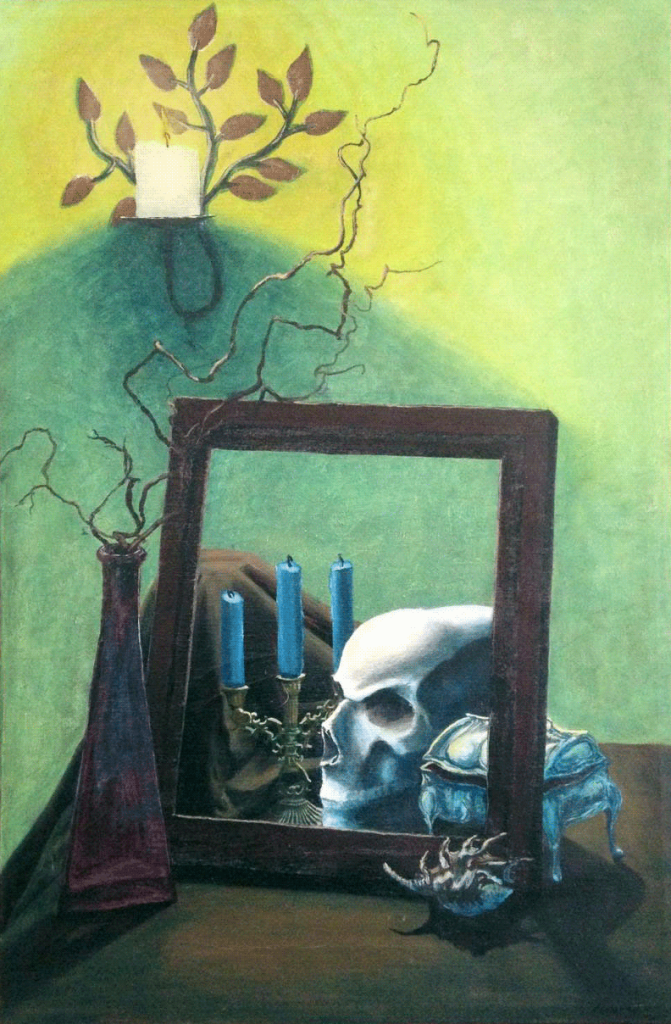 Vanitas #1 still life in oil